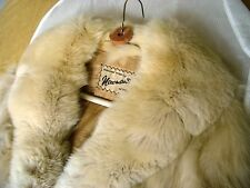 SILVER FOX FULL LENGTH COAT 8-10 1 PELT COLLAR LINED VINTAGE CUSTOM MADE