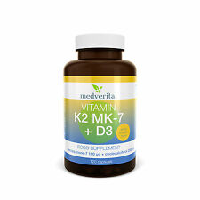 Vitamin K2 MK-7 100mcg + D3 2000 IU + Prebiotic inulin 120 caps. - No additives