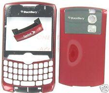 No-Logo Red Rim Blackberry Curve 8330 Housing Case Verizon Sprint Alltel Telus