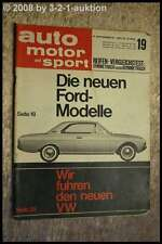 AMS Auto Motor Sport 19/64 Ford 17 M Ford 20 M VW Käfer 1200