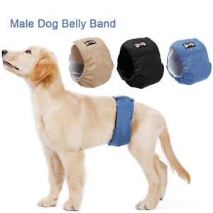 Washable Male Dog Belly Band Wrap Waterproof Dog Physiological Pant O3M3
