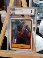 1981 Donruss Golf #2 Lee Trevino Beckett 8 Near Mint Graded Card