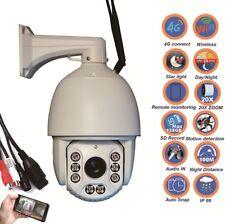 4G Wireless WiFi wired 20X Zoom 1080P 2.0MP PTZ Starlight IP Camera full upgrade