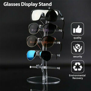 5 Pair Rack Show Sunglasses Glasses Display Stand Holder Plastic Counter