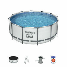 More details for bestway steel pro max swimming pool pump ladder filter cover mat 12ft x 48 56420