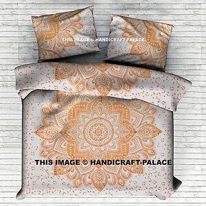 Ombre Mandala King Size Duvet Cover Indien Cotton Throw Blanket Comforter Set