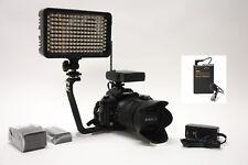 Pro 5D 4K 12 WLM AC/DC light F570 lavalier mic fo Canon EOS R 5DS 5DSR IV 1D X