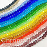 6x4mm glass crystal faceted Rondelle / Abacus beads ~18 inch strand, ~100 beads