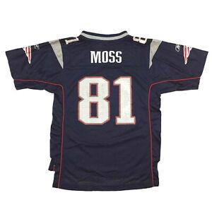New England Patriots Youth Jersey Randy Moss #81 Reebok On Field Football Kids L