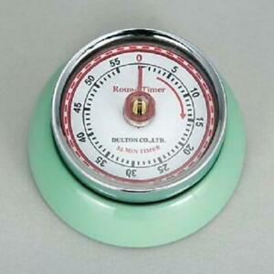 Magnetic Kitchen Timer - MINT COLOUR - Round Retro Timer Dulton Vintage Style