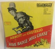 """Abbott & Costello """"Have Badge, Will Chase"""" Super 8mm Film Castle Films Vintage"""