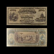 1975 Year Gold Money Dollar Foil Paper 1000 Us Banknotes Usd Banknote Bill
