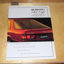 SUBARU 3 DOOR COUPE 4WD SALES BROCHURE 1985 1800 GL TURBO SS AT  RX TURBO