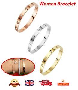 Love Forever Screw Embossed Bracelet & Bangle For Women Titanium Steel Gold Gift