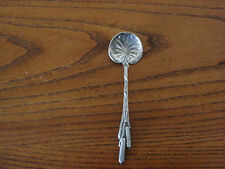 DURGIN Antique Sterling Silver CAT TAILS CHOCOLATE SPOON 4 1/8