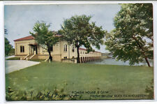 Power House Dam Rock Island Arsenal Illinois 1910c postcard