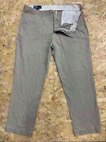 POLO Ralph Lauren PRESTON PANT Mens Vintage Chino Trousers W38 L32 Beige Zip Fly