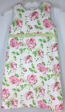 Girl's Dress HARTSTRINGS Sleeveless PINK ROSES APPLE GREEN WHITE Shift Easter 7