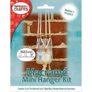 Modern Macrame Hanging Jar Kit  725879791650