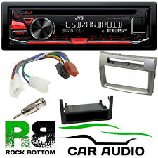 TOYOTA COROLLA VERSO JVC CD MP3 USB AUX Stereo & 1 Din Silver Fascia Fitting Kit