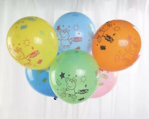 Peppa Pig Latex Balloons X10 Multi Colours. Peppa Pig Party Decorations New