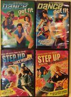 4 dance workout DVD lot for teens teenagers step up revolution hip hop dancing
