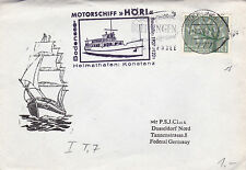 West Germany 1963 Motorship Hori to Dusseldorf Cover VGC