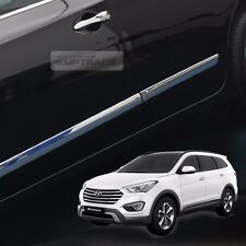 Chrome Side Skirt Door Line Sill Garnish Molding Trim for HYUNDAI 14+ SantaFe XL