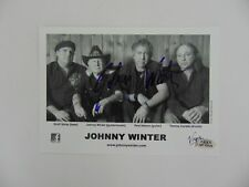 """""""Super Session"""" Johnny Winter Hand Signed 5X7 B&W Photo PAAS COA"""