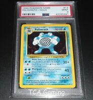 PSA 9 MINT Poliwrath 13/102 Base Set HOLO RARE Pokemon Card