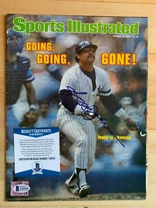 Reggie Jackson Autographed Signed Sports Illustrated cover Certified BAS COA