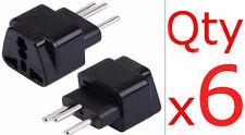 6PK USA US To Switzerland Travel Plug Adapter Three Pin Swiss Outlet Converter