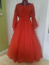 Renaissance Gypsy Style Skirt and Chemise - Burnt Orange