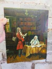 really old PAINTING oil on wood panel signed