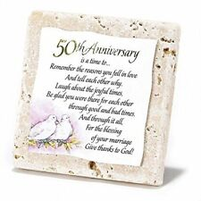 Tile Tabletop Plaque - 50th Anniversary