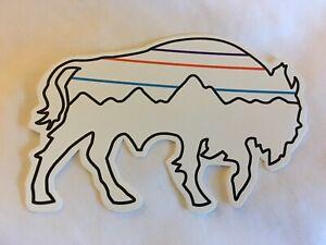 RARE!! NEW Patagonia Bison Buffalo Logo Sticker Decal RARE Mountains White