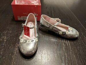 NIB Nina Pippin Silver Metallic Girl's Dress Shoes Toddler 10 Nordstroms