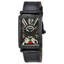 Franck Muller Long Island Sakura Black Diamond Dial Ladies Watch 902 QZ D CD