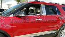 2011-2017 Ford Explorer w/Cutout 8Pc Chrome Stainless Steel Pillar Post Trim