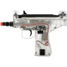 New listing MINI UZI AUTO ELECTRIC AIRSOFT CLEAR GUN AEG AUTOMATIC PISTOL RIFLE 6mm BB BBs