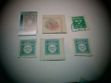 Swe01 #O5 Used official; Cut Square,Faultpost x 4, Tobacco stamp