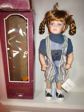 """Irma Gheduzzi Collectible Porcelain Doll with stand - Haley Irene 18"""" Nib"""