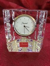Nearly FLAWLESS Exquisite BACCARAT Crystal EQUINOXE EQUINOX CLOCK Paperweight