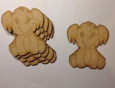 5 Wooden Mdf  Elephants Shape Decoration Laser Cut Blank