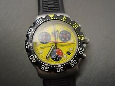 TAG Heuer Formula 1 ca1213 YELLOW, Swiss- RARE Vintage Collectable