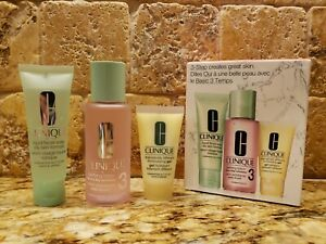 CLINIQUE~3-Step Skin Care System~Type 3 Combination Oily to Oily *BRAND NEW*