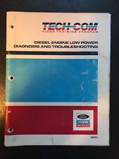 FORD TECH COM VIDEO TRAINING PROGRAM MANUAL! Diesel Engine low power Diag & Tro