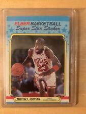 1988 Fleer Basketball Sticker #7 MICHAEL JORDAN - GOOD / VERY GOOD condition