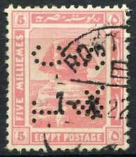 """Egypt 1921-2 SG#90, 5m Pink, """"TC&S"""" Used #D90685"""