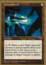 4x Cursed Scroll-Linde versión   nm   WCD-World Champion cubiertas 1999   Magic